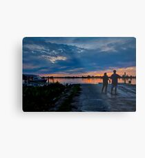 Sunset Watchers Metal Print