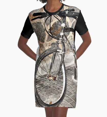 Buckled Graphic T-Shirt Dress