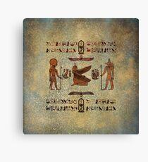 Hieroglyphs 2 Canvas Print