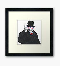 Winston Churchill Patriotic Pose Framed Print