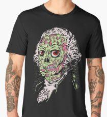Zombie George Washington Funny Scary Men's Premium T-Shirt