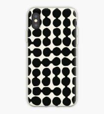 Linked pebbles, black, cream iPhone Case