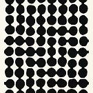 Linked pebbles, black, cream by mapmapart