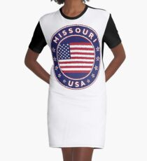 Missouri, USA States, Missouri t-shirt, Missouri sticker, circle Graphic T-Shirt Dress