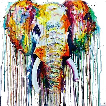 Watercolor Elephant by PragmaticFalcon
