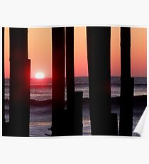 Sunrise Under the Pier Poster
