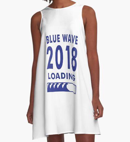 Blue Wave 2018 Loading A-Line Dress