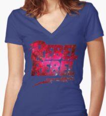 Camiseta entallada de cuello en V Sin título