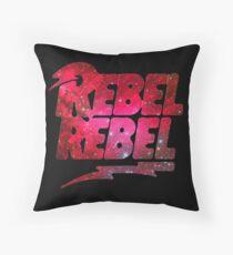 REBEL REBEL - DAVID BOWIE Throw Pillow