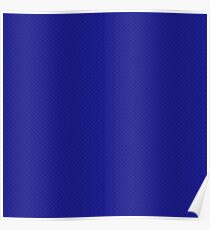 Deep Royal Navy Blue Puffy Stitched Quilt Poster