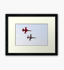Turkish acrobatic aviation squadron performing. Framed Print