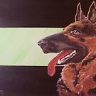 German Shepherd Dog - Breed Portrait by TamiParrington