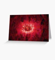 Red pink dark black flower explosion Greeting Card