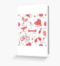 Equipment for sports activities for children. Greeting Card