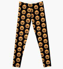 Brick Skull - Orange Leggings