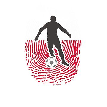 Football Poland Flag Thumbprint Design by Faba188