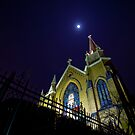 St Mary of the Mount: Moon at night by creativeburn
