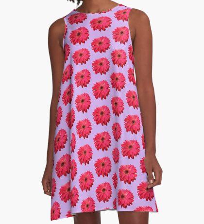 ein farbenfroher Blütentraum in rot A-Linien Kleid