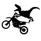 Dinosaur Raptor Riding Motor Bike by Bookinspired