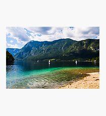 Panorama on the Lake of Predil (Tarvisio - Italy) Photographic Print