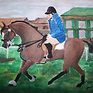 Early Morning Workout - Horse and Rider by TamiParrington