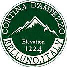 Cortina d'Ampezzo Skiing Italy Dolomite Mountains Dolomiti Belluno 3 by MyHandmadeSigns