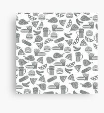 Seamless pattern with different foods. Canvas Print