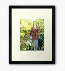 Green Lady Framed Print