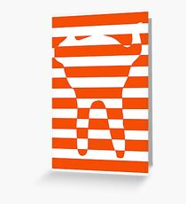 Orange striped cat Greeting Card