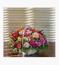 Flower basket for mom Photographic Print