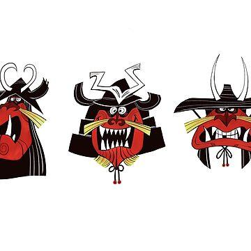Three Samurai by MassiveTrout
