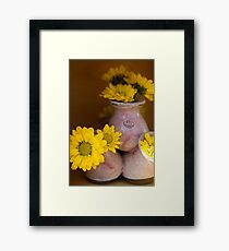 Buds in Clay Framed Print