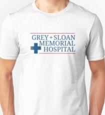 Grey Slogan Memorial Hospital  Unisex T-Shirt