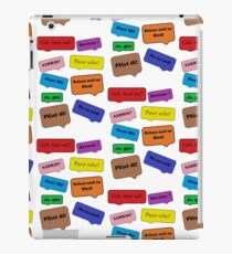 witty sayings by dialect iPad Case/Skin