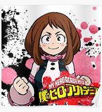 Uravity (Ochaco Uraraka) Boku no Hero Academia Paint Splatter Poster