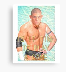 ContraBRAND Wrestling - Play a Game Metal Print