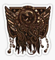 Airship Pirate Badge in Copper Sticker