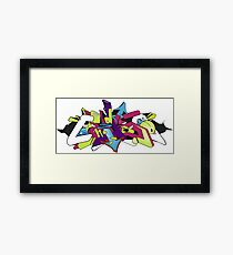 Digital Wildstyle Graffiti Framed Print