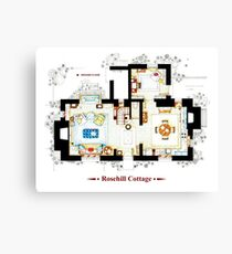 Rosehill Cottage from THE HOLIDAY - Ground floor Canvas Print