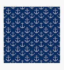 Nautical Blue Sail Boat Anchors Photographic Print