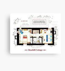 Rosehill Cottage from THE HOLIDAY - Upper floor B Canvas Print