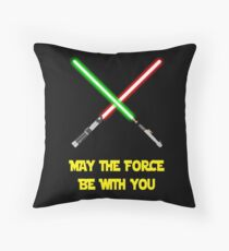 May the force be with you-star wars fanart Throw Pillow