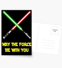 May the force be with you-star wars fanart Postcards
