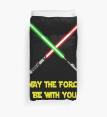 May the force be with you-star wars fanart Duvet Cover
