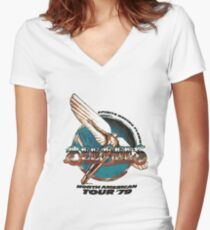 Bee Gees North America Tour 1979 Women's Fitted V-Neck T-Shirt