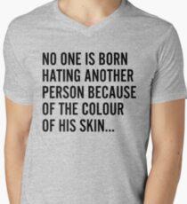 Hate Racism Men's V-Neck T-Shirt