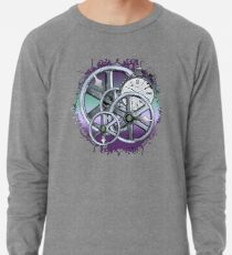 Gears and Time in Blue and Purple Lightweight Sweatshirt