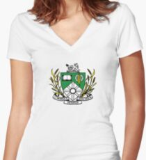 Saskatoon Coat of Arms Women's Fitted V-Neck T-Shirt