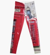 Red Telephone Boxes, London Leggings