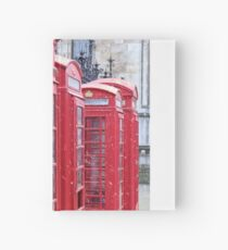 Red Telephone Boxes, London Hardcover Journal